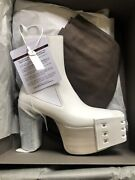 Rick Owens Performa White Grill Kiss Boots