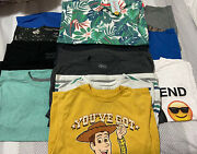 Lot Of 14 Boys Tees T Shirts Size Medium 8/10 Carters Old Navy Lego Toy Story