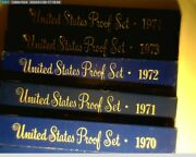 1970-1979 Proof Sets In Boxes From Mint. All 10 Sets