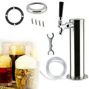 Draft Beer Tower Faucet Single Handle Dispenser Tap Stainless Steel+plastic New
