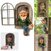 Tree Decoration Leave The Door /window Gnome Whimsical Tree Face Statue Ornament