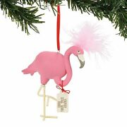 Pink Flamingo Bird Ornament Show Your True Colors Snowpinions Collection Dept 56