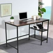 Computer Desk Pc Laptop Table Wood Home Office Work Study Gaming Storage Shelf