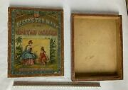 Antique Victorian Mcloughlin Bros Dissected Map Of Us Puzzle