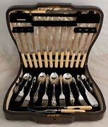 Chippendale Iv Design Garrard And Co Silver Service 62 Piece Canteen Of Cutlery