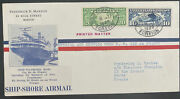 1929 New York Usa Catapult Airmail Cover Ss Ile De France To Paris France Ship