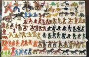 Lot Of 121 - Vintage Plastic Toy Fighting Cowboys And Indians Toys - Abt. 2 Tall