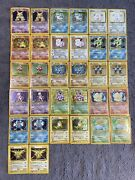2 Complete Wotc Pokemon Unlimited Base Set Binders 102/102 Played Condition