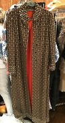 Vintage Michael Novarese Houndstooth Tweed Crystal Embroidered Dress And Long Coat