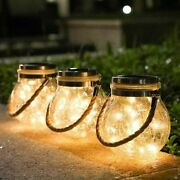 Solar Power Lanterns Fairy String Hanging Lights Outdoor Garden Party Table Lamp