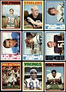 1972 Topps Football Low Number Complete Set 6.5 - Ex/mt+