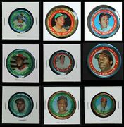 1971 Topps Coins Baseball Almost Complete Set 3.5 - Vg+