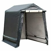 Abba Patio Outdoor Storage Shelter With Rollup Door Storage Shed Portable Garage