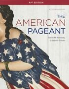 The American Pageant A History Of The American People By David M Kennedy Used