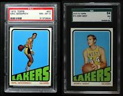 1972-73 Topps Los Angeles Lakers Almost Complete Team Set 7 - Nm