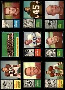 1962 Topps Cleveland Browns Team Set W/o Jim Brown Browns-fb 6 - Ex/mt