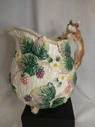 Fitz And Floyd 1990 Fox Water Pitcher 1.75 Qt. Only Displayed. Excellent Condit.