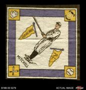 1914 B18 Blankets Willie Mitchell Yellow Bases Indians 6 - Ex/mt