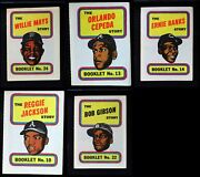 1970 Topps Baseball Booklets Almost Complete Set 6 - Ex/mt