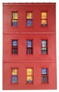 Ameri-towne 71 O Scale Building Window Wall Front Only Model Railroad Lionel