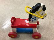 Fisher Price Toys Riding Horse 978 In Good Condition Vintage 1976 Blue Red
