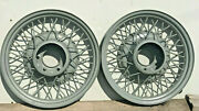 1932 1933 32 33 Chevrolet 18 X 3 Inch Wheel Rims Pair Blasted Painted 6 On 5.5