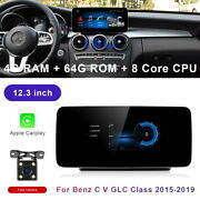 For Mercedes Benz C Glc V R Class 2015-20 12.3 Car Gps Android Radio Stereo Nav