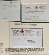 1941 Windhoek South West Africa Red Cross Society Cover W Message Form Hoge