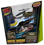 New Nib Rare Air Hogs R/c Havoc Razor Helicopter Flies, Hovers, Drives On Land