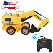 Rc Construction Tractor Vehicle Truck Remote Control Excavator Toy Digger Rc Car