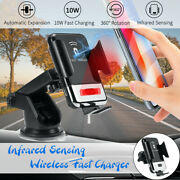 2in1 Car Qi Wireless Charger And Phone Holder Mount Infrared Automatic A