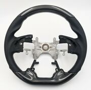 Revesol Real Carbon Fiber Steering Wheel Silver Stitch For 13-17 Honda Accord G9