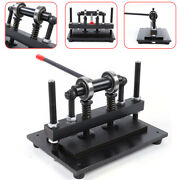 Professional Manual Leather Cutting Machine Die Cutandleather Embossing Device