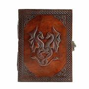 Handmade Leather Double Dragon Journal/writing Notebook Diary/bound Daily Notepa