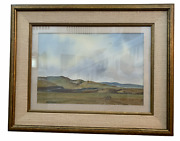 Signed Russell Waterhouse Southwest Landscape Watercolor On Paper Dated 1971