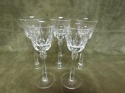 Circa 1980 Mikasa Crystal Cameo Cut Pattern Cordial Stem Glass Lot Of 5 Pieces