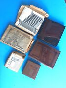 Set Of 3 Antique Wood And Copper Printers Blocks Industrial Machinery Tools Italy