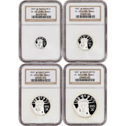 2001 W American Platinum Eagle Proof Four Coin Set Ngc Pf69 Ucam