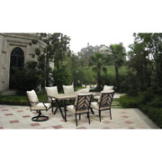 6 Person Dining Set With Cushions Outdoors Patio Furniture Deck Table Chairs 7pc