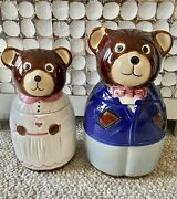 Bear Pair Husband And Wife Cookie Jars His And Hers Boy Girl