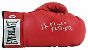 Evander Holyfield Authentic Signed Red Leather Everlast Boxing Glove Psa/dna Itp