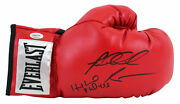 Evander Holyfield And Riddick Bowe Signed Red Everlast Boxing Glove Psa 5a13313