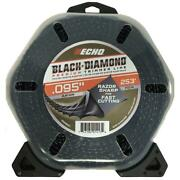 Echo 330095071 .095 Black Diamond Trimmer Line 253 Ft. Large Clam New
