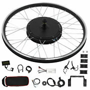 Electric Bicycle 26in Wheel Motor 48v 1000w Conversion Kit For Kt‑lcd3 Display