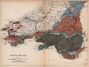 South Wales Antique Geological Map By James Reynolds 1864