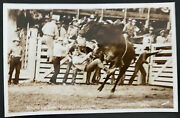 Mint Usa Real Picture Postcard Round-up Time Pendleton Oregon Rodeo Smith Photo