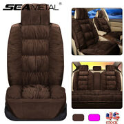 Plush Car Seat Covers Full Protector Front Rear Chair Cushion Universal Us Stock
