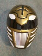 Adult Power Ranger White Tiger Morphsuits Party Costume Cosplay Head Mask 79728