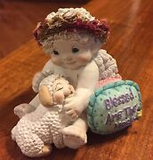 Dreamsicles Blessed Are The Meek White Angel With Lamb Figurine