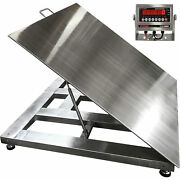 Optima Scale 4ft Lift-up Wash-down Floor Scale- 5klb Cap 1lb Display Increments